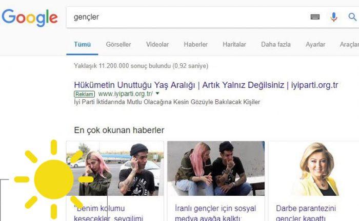 İyi Parti'nin Olay Yaratacak Google Reklam Kampanyası