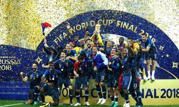2018 Dünya Kupası Şampiyonu Fransa!